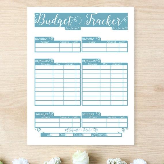Financial Planner Budget Printable Finance Binder