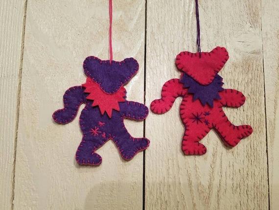 Grateful Dead Christmas Ornament.Grateful Dead Bear Hanging Christmas Ornament