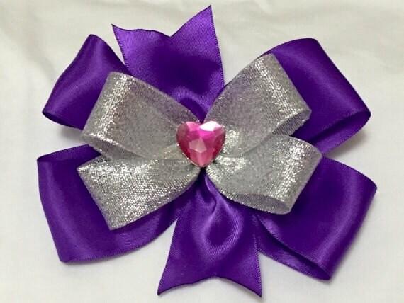 "GIRLS 8/"" HEART LOVE BOW UNICORN SEQUIN SHINY RIBBON HAIR ELASTICS ACCESSORIES UK"