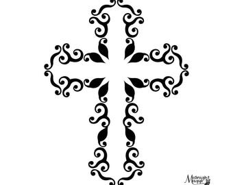 Svg Amazing Grace Cross Cricut And Silhouette Cut File Etsy