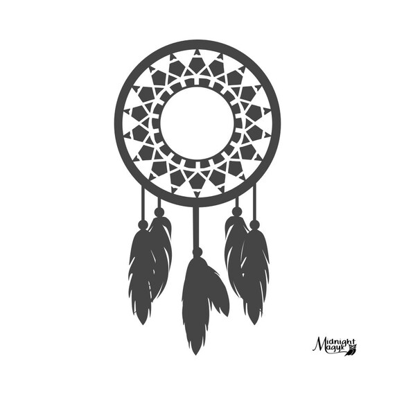 Items similar to To the Point Dream Catcher Monogram SVG ...