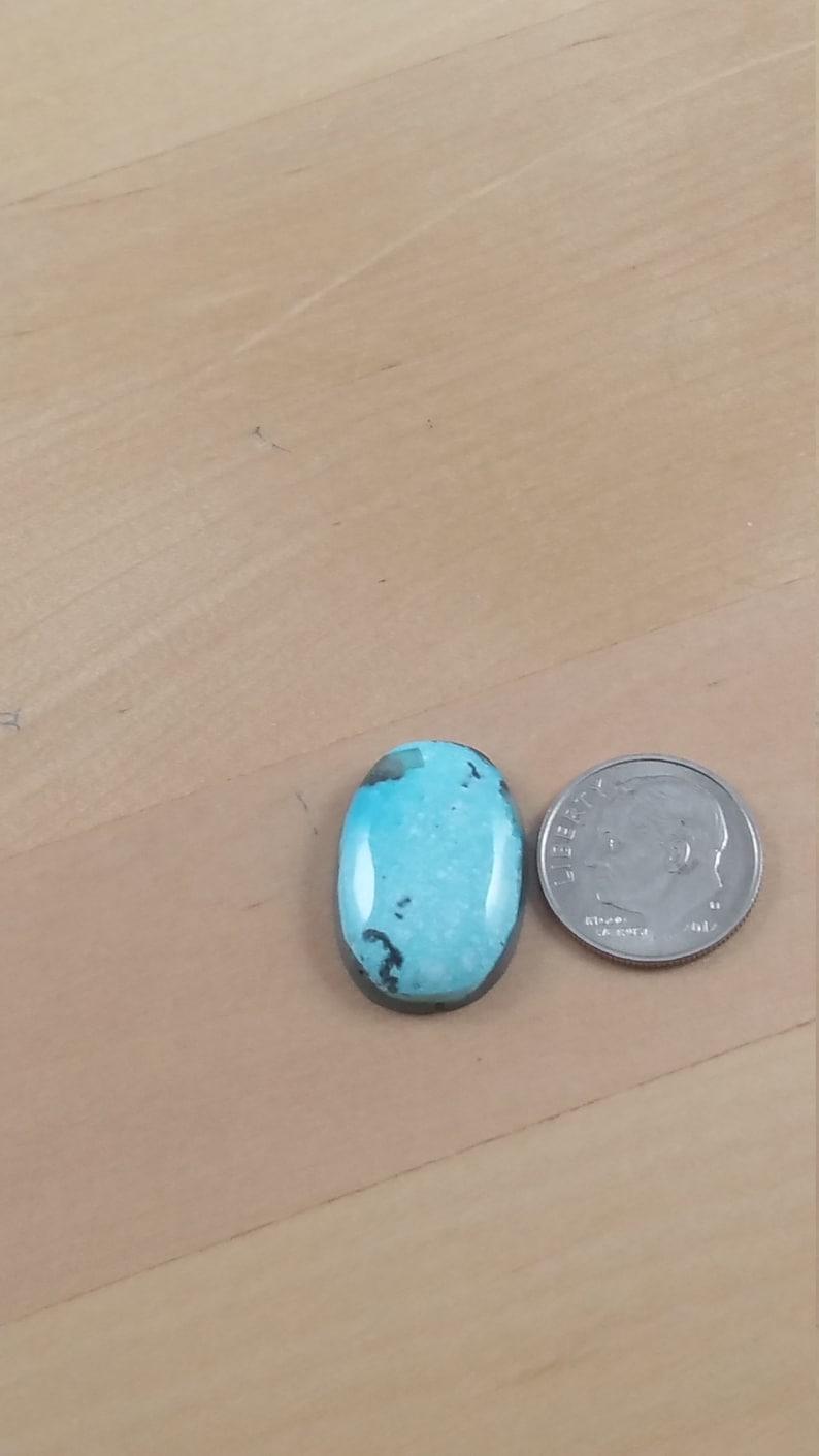 0672 Kingman Turquoise 12.65 cts Finished Cabochons