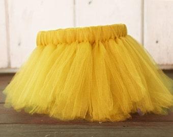 Yellow Tutu, Yellow Birthday Girl Tutu, Yellow Baby Tutu