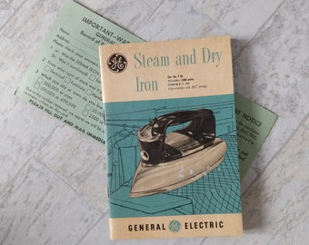 Vintage GE Iron Manual Warranty Card Cat No F50 General Electric