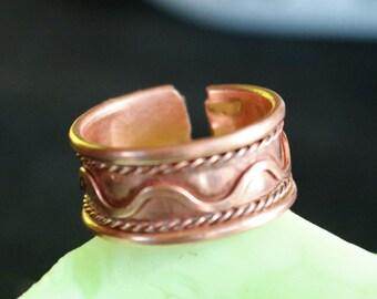 Ethnic Copper Adjustable Ring