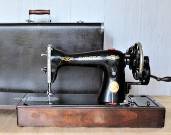 Singer 15k hand crank sewing machine