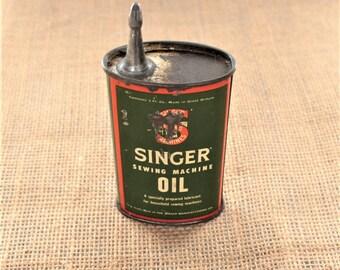 Original Singer sewing machine oil can