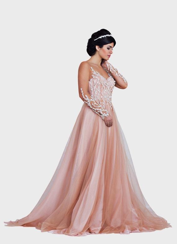 Rosa Fantasie Hochzeitskleid Prinzessin Hochzeit Kleid