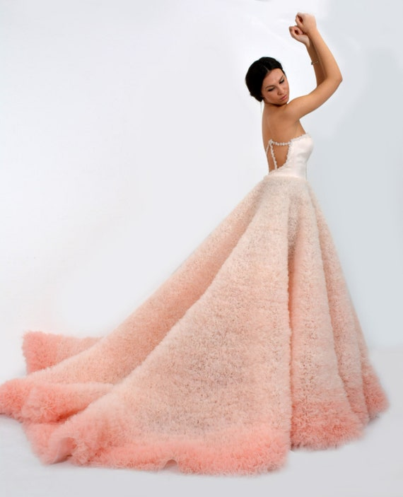 Ombre Suknia ślubna W Różowym Długim I Sexy Suknia ślubna Z Etsy