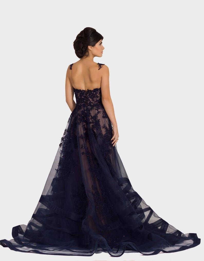 Blaue Mutter der Braut Kleid Sexy Abendkleid lange ...
