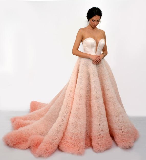 Ombre Kleid in rosa Sleevless Ballkleid langes Kleid mit