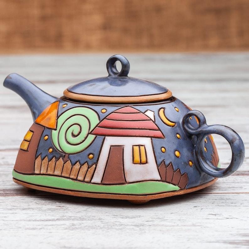 Handmade teapot Pottery teapot Ceramic tea pot Tea image 0