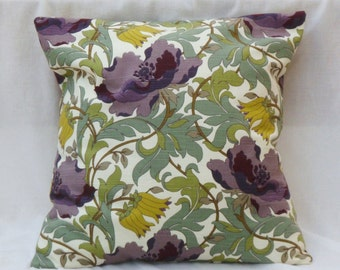 Pillow green, violet, floral, plants, cover