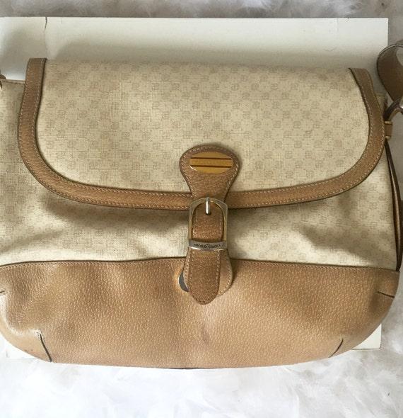 3876360cb88 Vintage Paolo Gucci Monogram GG shoulder bag