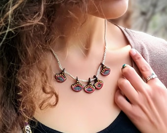 Drops of Fire Necklace