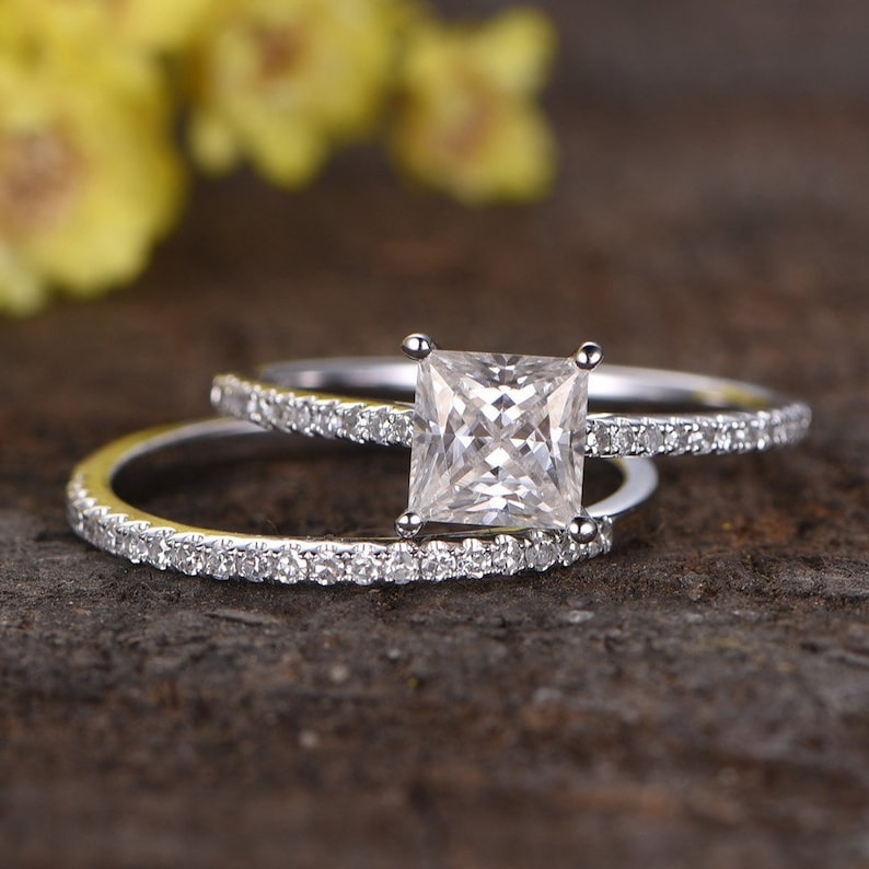 Verlobungsring/ Ehering 10 Karat Gold Klassisch Bande Damen Ring 2mm