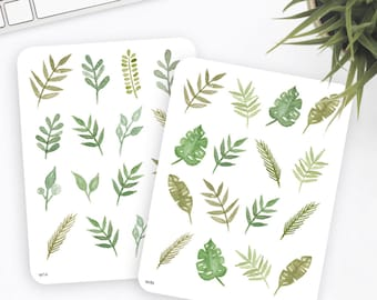 Flower Stickers | Decorative Stickers | Watercolor Stickers | Planner Stickers | Bullet Journal Stickers