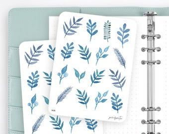 W26 | Flower Stickers | Decorative Stickers | Watercolor Stickers | Planner Stickers | Bullet Journal Stickers