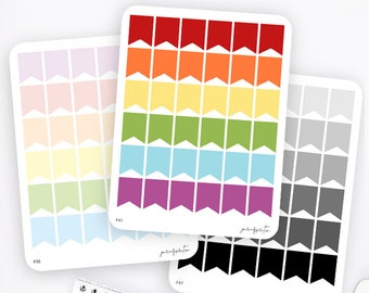Big Flag Stickers   Functional Stickers   Rainbow Stickers   Page Flags   Erin Condren Life Planner Stickers   Bullet Journal Stickers