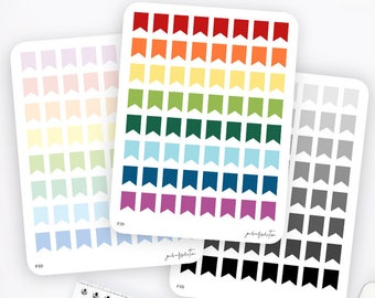Mini Flag Stickers   Functional Stickers   Rainbow Stickers   Page Flags   Erin Condren Life Planner Stickers   Bullet Journal Stickers