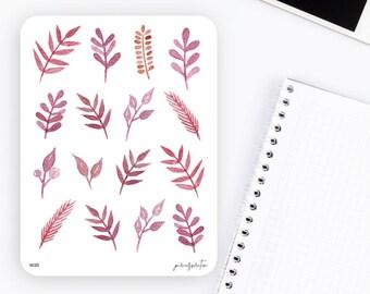 W20 | Flower Stickers | Decorative Stickers | Watercolor Stickers | Planner Stickers | Bullet Journal Stickers