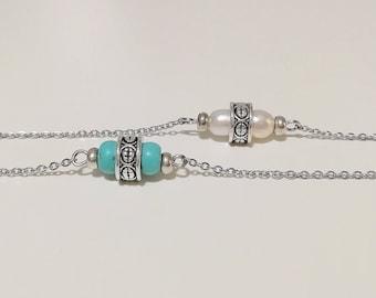412c8576118f Collares con turquesas-Choker plata-Collar cadena plata y turquesa-Collares  de mujer-Gargantilla motivos indígenas-Collares con perlas.