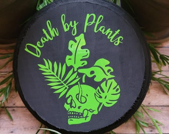Death by Plants Wood Wall Plaque