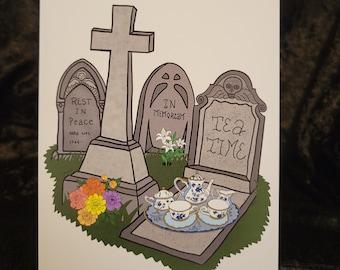 Dying for Tea Art Print