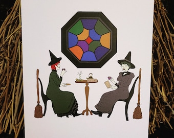 The Witches of Tea Time Art Print