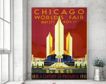 Art Print: Chicago World's Fair Poster