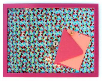 "Magnetic Bulletin Board: Pinwheels, 12 x 16"""