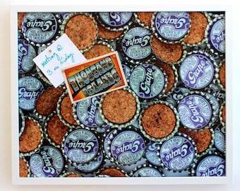 Magnetic Bulletin Board: Grape Soda Caps, 16 x 20