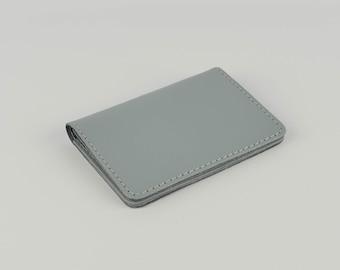 Credit card holder etsy dove grey leather card holder handmade leather shirt wallet slim credit card holder leather travel card wallet chroma reheart Images