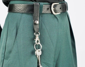 Leather Key Ring Belt Loop Attachment Key Ring UK Made Genuine Leather