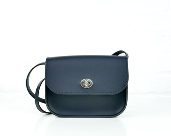 ed48159734 Navy Leather Everyday Bag // Handmade Navy Shoulder Bag // Unusual Blue  Leather Medium Cross Body Handbag // Chroma Navy Hip Satchel