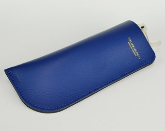 Leather Glasses Case Chroma Royal Blue Handmade // Bright Spectacles Holder Sunglasses Pouch