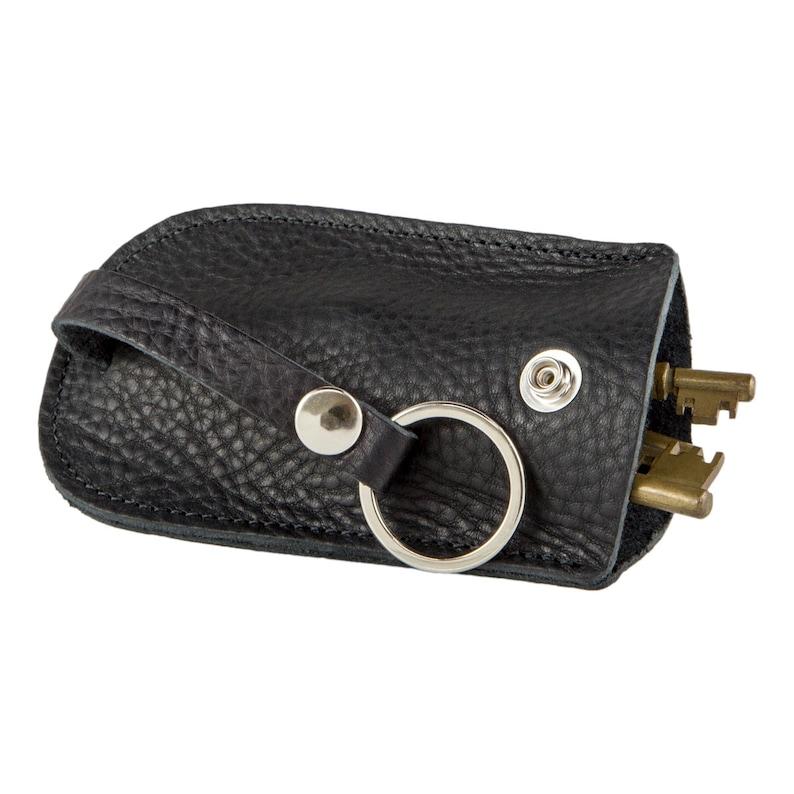 Black Leather Bell Key Holder