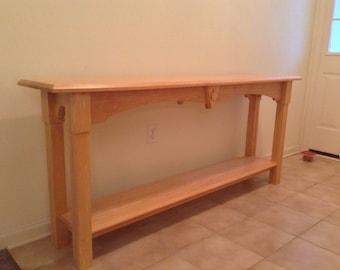 Handmade maple sofa,entry table.
