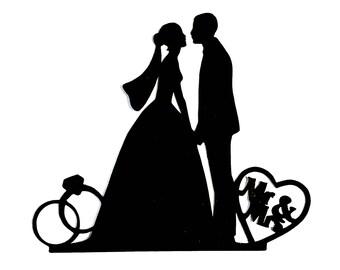 1d9ff9feb4 Set of 25 Mr & Mrs Wedding Couple Die Cuts Wedding Cut Outs Wedding Couple  Paper Shapes Wedding Scrapbooking Cut Bride and Groom Die Cut