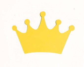 10 Large Glitter Princess Crowns  Tiaras  Prince  King  Queen   Die Cuts 3 inches