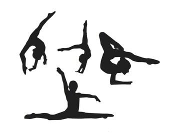 Ch Gymnastics Die Cuts Girl 8 Gymnast Ballet Any Colour//Card Female