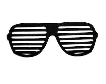 0ea37639c8a 25 Sunglasses Die Cuts Photo Booth Cut Out Shutter Shades Die Cut Eyeglass  Paper Shapes Scrapbooking Embellishments 80 s Sunglass Frame Cut