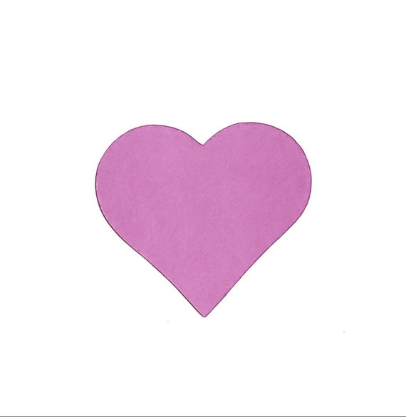 25 Cardboard hearts hand-die 7cm x 7cm