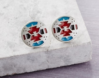 Solid Silver Round Earrings