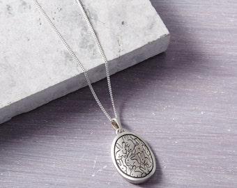 Bunny Pendant - Rabbit Pendant - Rabbit Gift - Bunny Gift - Love Rabbits - Love Bunnies - Bunny Necklace - Solid Silver Pendant