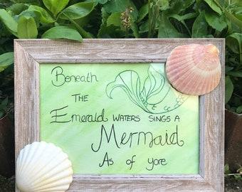 Mermaid Watercolour Frame