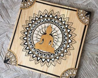 Buddha - painting on wood