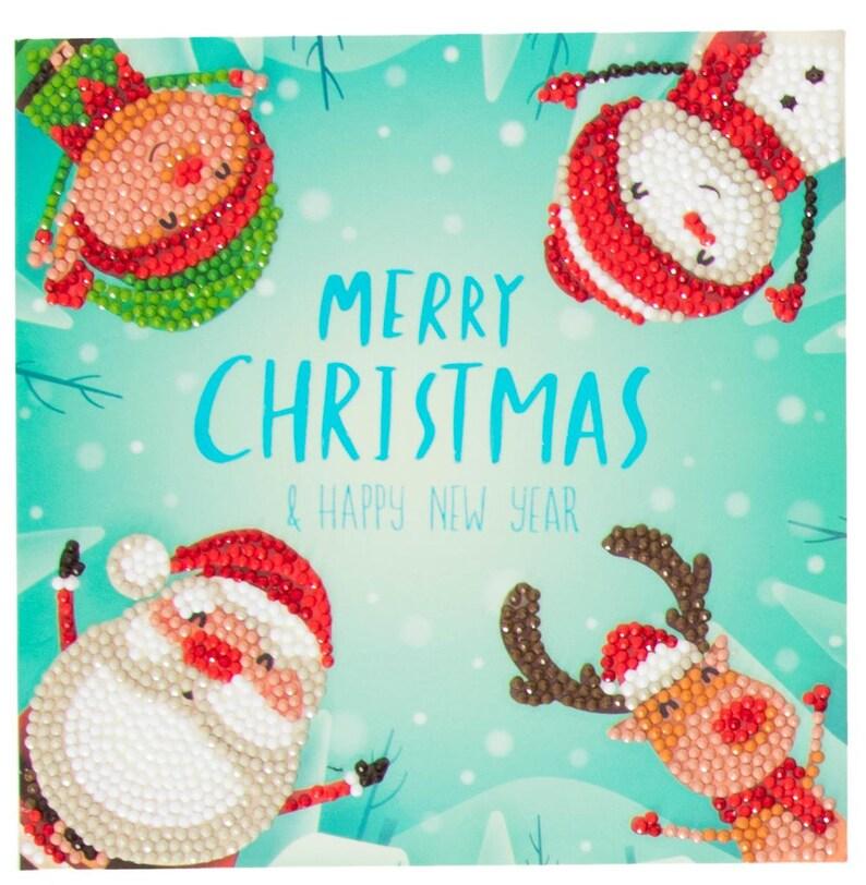 "Craft Buddy  Christmas Crystal Card Making Kit /""Poinsettias/"""