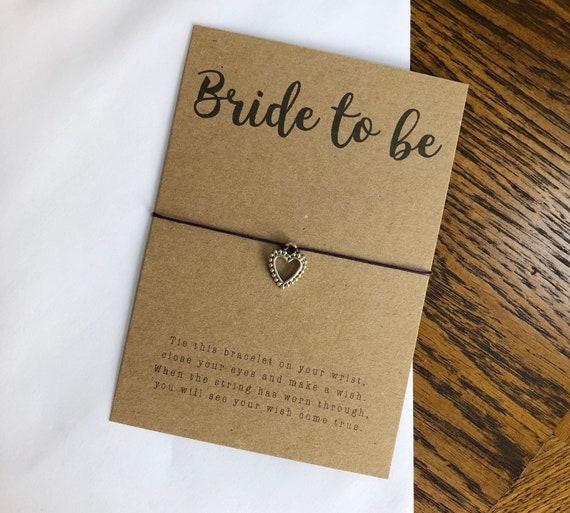Hen Party Bride to be* Wish Bracelet Friendship wedding Kraft Card friend Gift
