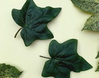 Ivy Leaf Hair Accessory, Poison Ivy Hair Clips, Oversized Green Leaf, Cosplay Accessory, Woodland Wedding, Pagan Wedding, Boho Bride